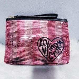 New Victoria's Secret Sequin Make-up Bag